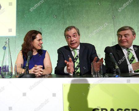 Helen Harrison, Nigel Farage and David Campbell Bannerman MEP