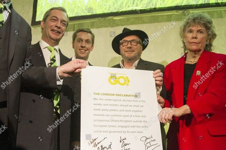 Nigel Farage, Tom Pursglove, George Galloway and Kate Hoey