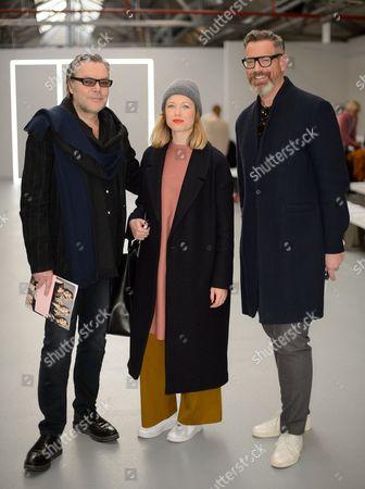 Editorial picture of Jasper Conran Show, Front Row, Autumn Winter 2016, London Fashion Week, Britain - 20 Feb 2016
