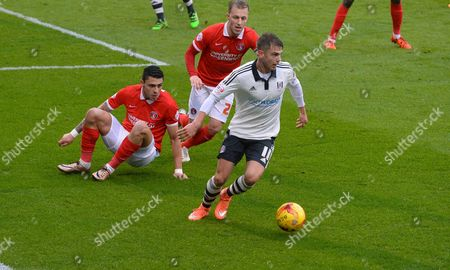 Alex Kacaniklic of Fulham in action during the Sky Bet Championship match between Fulham and Charlton Athletic played at Craven Cottage London on February 20th 2016