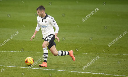 Stock Photo of Alex Kacaniklic of Fulham during the Sky Bet Championship match between Fulham and Charlton Athletic played at Craven Cottage London on February 20th 2016