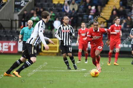 Leyton Orient striker Jay Simpson during the Sky Bet League 2 match between Notts County and Leyton Orient at Meadow Lane, Nottingham