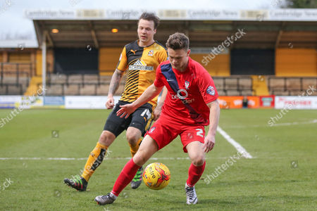 York City forward Reece Thompson  during the Sky Bet League 2 match between Cambridge United and York City at the R Costings Abbey Stadium, Cambridge