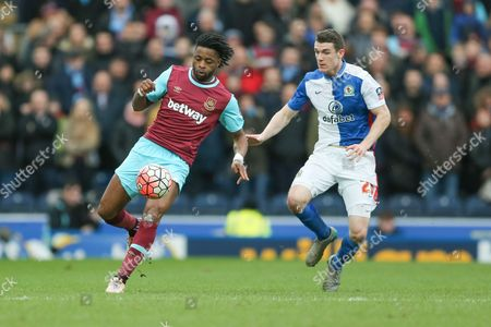 West Ham United midfielder, on loan from Barcelona, Alexandre Song   during the The FA Cup match between Blackburn Rovers and West Ham United at Ewood Park, Blackburn