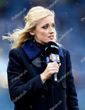 Lynsey Hipgrave presents for BT Sport