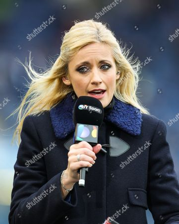 Lynsey Hipgrave present for BT Sport