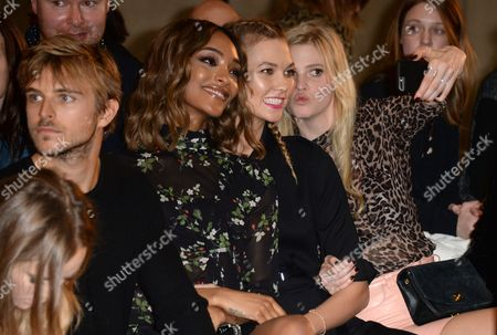 Brandon Green, Jourdan Dunn, Karlie Kloss and Lara Stone