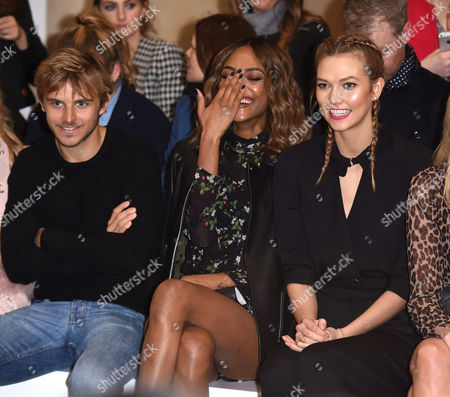Stock Photo of Brandon Green, Jourdan Dunn and Karlie Kloss