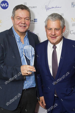 Anthony Drewe and Cameron Mackintosh accept the award for Best Regional Production for Mary Poppins on tour