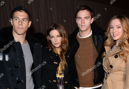 Stock Picture of Ben Smith-Petersen, Riley Keough, Nicholas Hoult and Rosanna Hoult