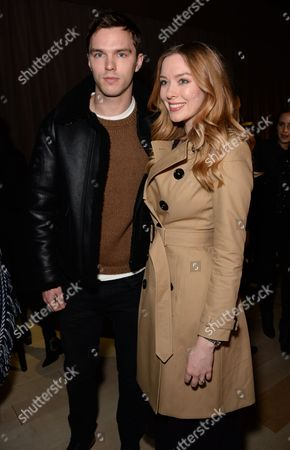 Nicholas Hoult and Rosanna Hoult in the front row