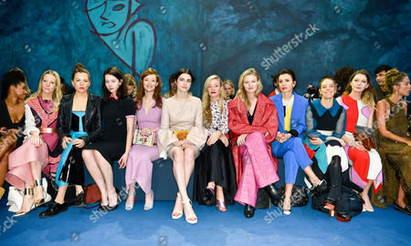 Alice Naylor-Leyland, Morgane Polanski, Jessamine-Bliss Bell, Audrey Marnay, Tali Lennox, Kate Foley, Candice Lake, Lara Bohinc, Tiphaine Chapman and Rosie Lowe in the front row