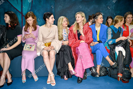 Jessamine-Bliss Bell, Audrey Marnay, Tali Lennox, Kate Foley, Candice Lake, Lara Bohinc and Tiphaine Chapman in the front row