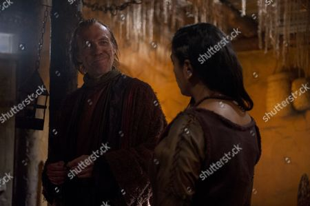 EPISODE 9 Pictured: LOLITA CHAKRABARTI as Lila and RICHARD BRAKE as Arak