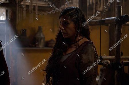 Stock Photo of EPISODE 9 Pictured: LOLITA CHAKRABARTI as Lila and RICHARD BRAKE as Arak