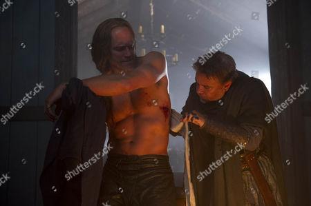 BEOWULF EP 7 Pictured: ELLIOT COWAN as Abrecan and LEE BOARDMAN as Hane.