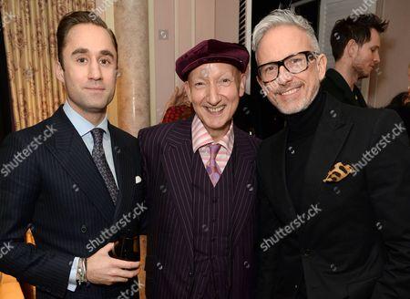 Editorial picture of London Fashion Week Party with David Downton, Stephen Jones and Virginia Bates at Claridge's, London Fashion Week, Britain - 22 Feb 2016
