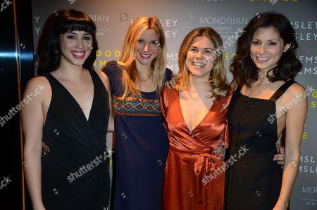 Jasmine Hemsley and Melissa Hemsley, Calgary Avansino and Madeleine Shaw