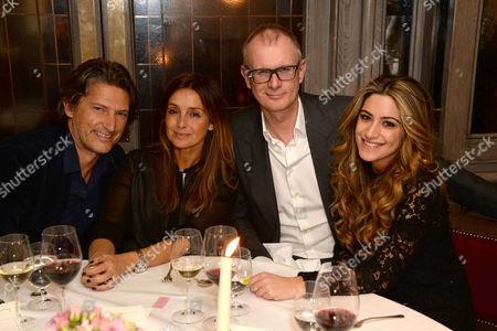 Arnaud Massenet, Louise Redknapp, Mark Daeche with guest