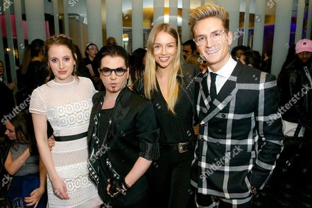 Stock Photo of Rosie Fortescue, Joshua Fenu, Emma Louise Connolly and Oliver Proudlock