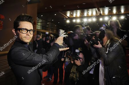 Tomasz Wasilewski with the Silver Bear for Best Screenplay