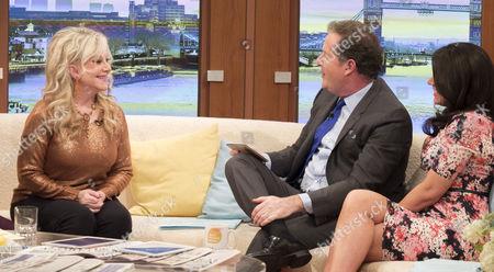 Stella Parton with Piers Morgan and Susanna Reid