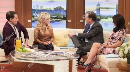 Stock Image of Richard Arnold and Stella Parton with Piers Morgan and Susanna Reid