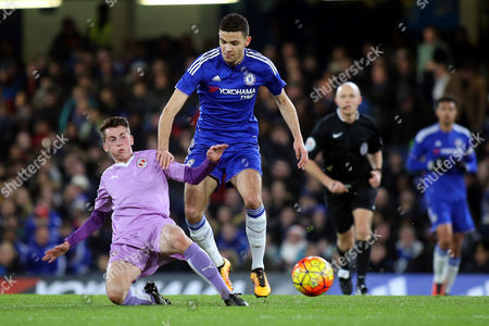 Ryan East of Reading tackles Chelsea's Isaac Christie Davies during Chelsea Youth vs Reading Youth, FA Youth Cup Football at Stamford Bridge