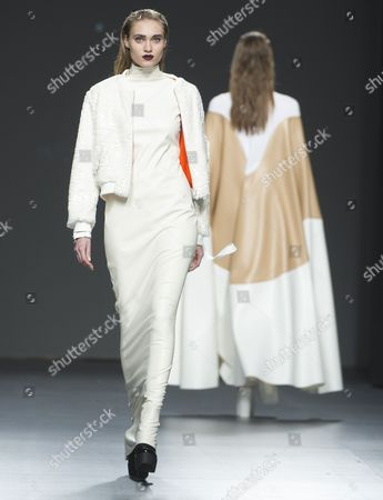 Tanya Reutt on the catwalk