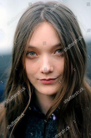 Model Yumi Lambert after Burberry at Kensington Gore