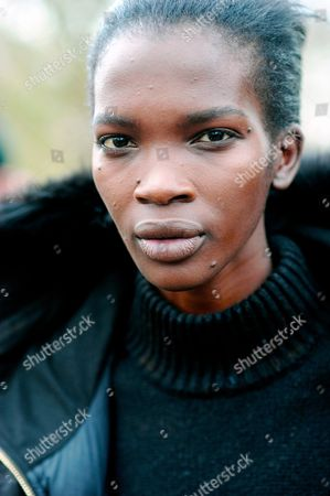 Model Aamito Lagum, after Burberry at West Albert Lawns, Kensington Gardens