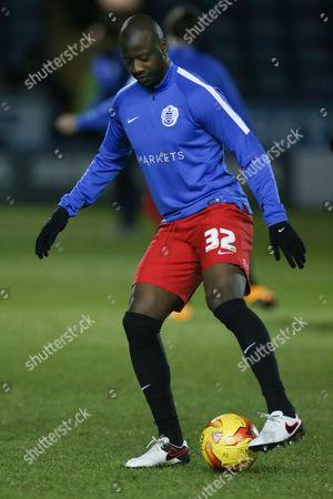 Queens Park Rangers Samba Diakite warms up before the Sky Bet Championship match between Sheffield Wednesday and Queens Park Rangers played at the Hillsborough Stadium, Sheffield on February 23rd 2016