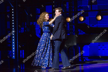 Cassidy Janson (Carole King) and Alan Morrissey (Gerry Goffin) during the curtain call