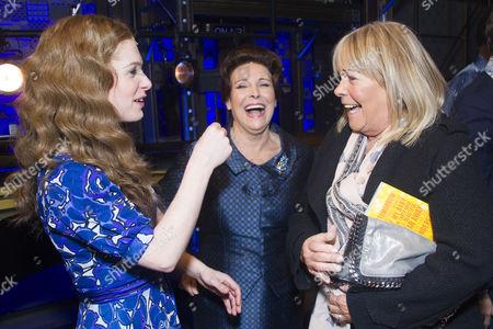 Cassidy Janson (Carole King), Diane Keen (Genie Klein) and Linda Robson backstage
