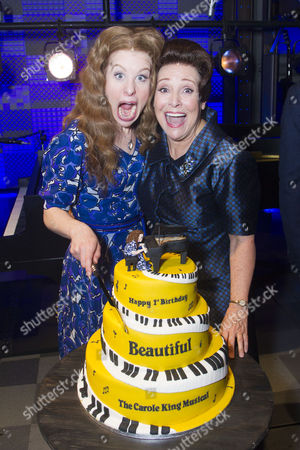 Cassidy Janson (Carole King) and Diane Keen (Genie Klein) backstage