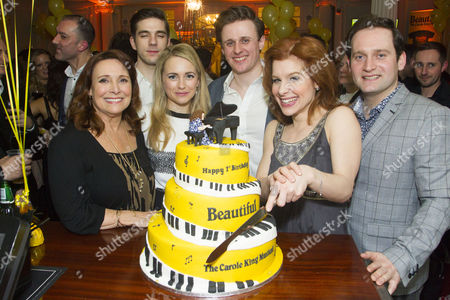 Diane Keen (Genie Klein), Ian McIntosh (Barry Mann), Lorna Want (Cynthia Weil), Alan Morrissey (Gerry Goffin), Cassidy Janson (Carole King) and Gary Trainor (Don Kirshner)