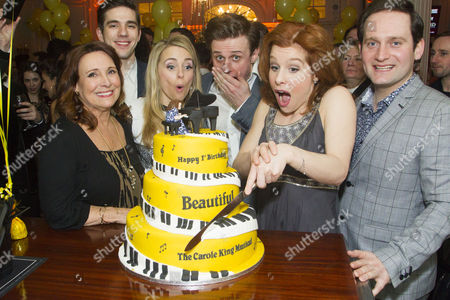 Diane Keen (Genie Klein), Ian McIntosh (Barry Mann), Lorna Want (Cynthia Weil), Alan Morrissey (Gerry Goffin), Cassidy Janson (Carole King) and Gary Trainor (Don Kirshner)