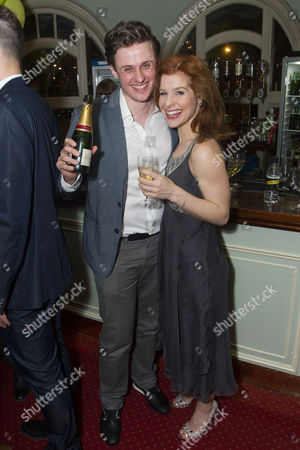Stock Image of Alan Morrissey (Gerry Goffin) and Cassidy Janson (Carole King)
