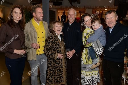 Ben Fogle, his mother Julia Foster, father Bruce Fogle and family