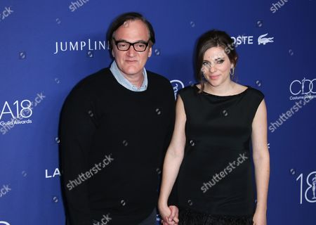 Quentin Tarantino with Courtney Hoffman