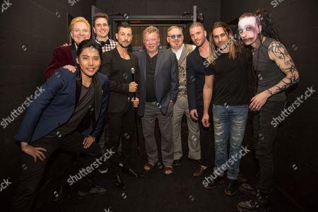 Stock Picture of William Shatner, Jeff Hobson, Andrew Basso, Kevin James, Yu Ho-Jin, Ben Blaque, James More, Dan Sperry. Adam Trent
