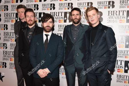 Foals - Yannis Philippakis, Jack Bevan, Walter Gervers, Edwin Congreave and Jimmy Smith