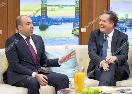 Rick Hoffman with Piers Morgan