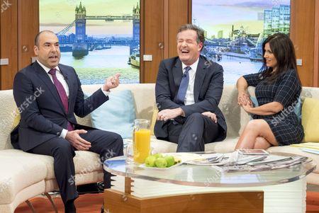 Rick Hoffman with Piers Morgan and Susanna Reid