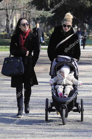 Editorial picture of Michelle Hunziker and Serena Autieri out and about, Milan, Italy - 19 Feb 2016
