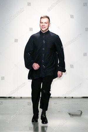 Stock Image of Sergei Grinko on the catwalk