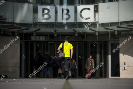 Stock Picture of The Dame Janet Smith review found that the BBC repeatedly failed to stop abuse by DJ Jimmy Savile and broadcaster Stuart Hall. General view of the front entrance to BBC Broadcasting House in London
