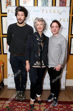 Joel Fry, Maureen Lipman and Ryan Sampson
