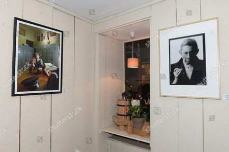 Exhibition of Serge Gainsbourg pictures at Wine Sitting, 27 rue de Beaune in Paris