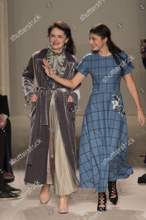 Stock Image of Luisa Beccaria and Lucilla Bonaccorsi di Reburdone on the catwalk